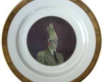 Mr. Gary Tiel  - Altered Antique Plate 7.6""