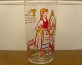 Vintage 1960's    Cinderella Drinking Glass  Walt Disney Productions
