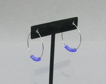 Purple Seed Earrings