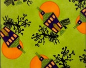 Haunted House fabric - Chic or Treat - Halloween - Moda - OOP HTF
