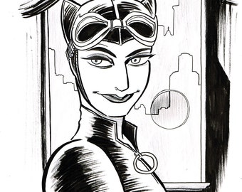 Original Art — Catwoman — Dan Schkade