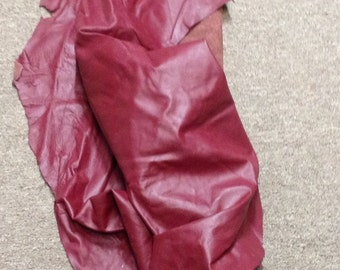 BASK00. Pomegranate Leather Partial
