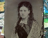 RESERVED for SHARON -Tintype - Girl's Crowning Glory