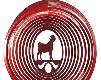 Goat Boer Swirly Metal Wind Spinner