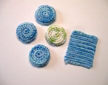 Scrubby Crochet Pattern, Scrubby Knit Pattern, Simple Patterns, Easy to Follow, Instant Download
