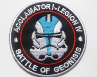 STAR WARS Blue Clone Trooper Head Battle of Geonosis Patch Badge