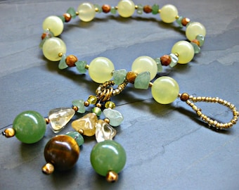 New Jade & Aventurine Gratitude Meditation Beads