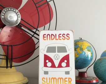 Endless Summer Hand Painted Wooden Sign