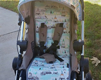 Reversible Stroller Pad Liner  Baby Jogger City Select - - - Made to Order - - -