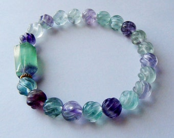 Bi Color Fluorite Bracelet