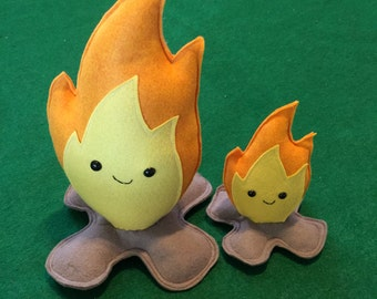 Big Campfire Carl - Plush Pretend Fire - Ready to Ship