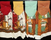 Hanging Kitchen Towels - Coffee Cups
