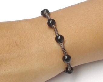 Beautiful Black Onyx Gemstone BEAD Fair Trade Jewelry Wristband Bracelet