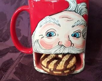 Santas cookie mug - cookies for santa mug - child christmas gift - personalized mug - child's mug - Santa Mug