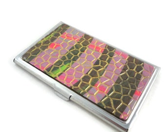 Card Storage Case with Polymer Design Business Card Holder