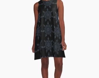 A Line Dress - Snowflake