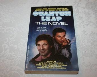 Vintage Paperback Book Quantum Leap The Novel By Ashley McConnell 1992 TV show