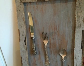 Upcycled barnwood kitchen plaque