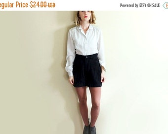 50% OFF SALE vintage shorts black 1990s high waisted womens clothing lee size small s 6