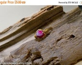 On Sale Wire Wrapped Brass Pink Agate Pinky Finger Toe Ring size 3 1/2