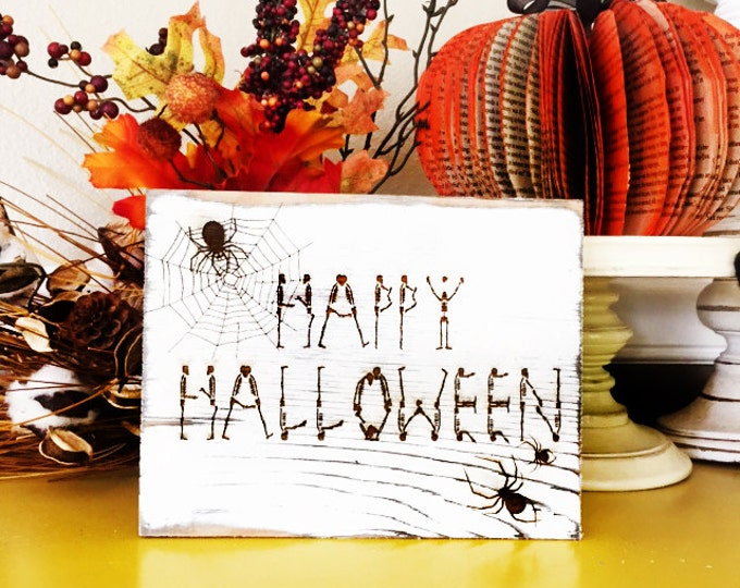 Rustic Halloween Signs