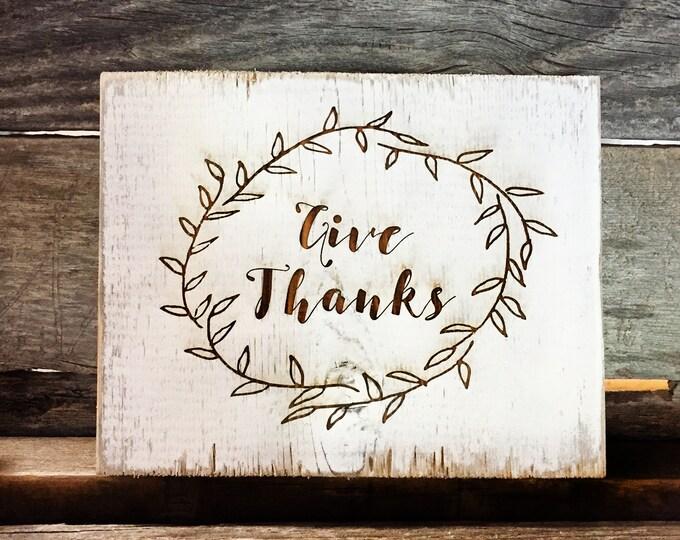 Rustic Barnwood Thanksgiving Signs