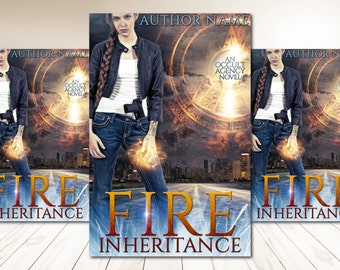 "Premade Digital Book eBook Cover Design ""Fire Inheritance"" Fiction Young New Adult YA Urban Fantasy Literary Fiction"