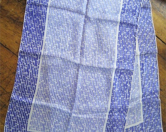 "Vintage Vera 1970's Purple Silk Oblong 44"" x 14"" Scarf Hand Rolled Ladybug"