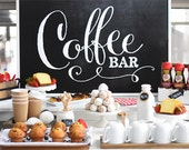 Chalkboard Coffee Bar - 24x36 Sign