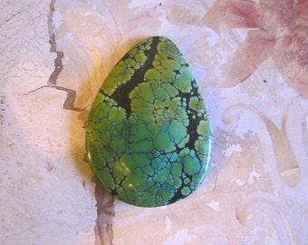 Green Turquoise Cabochon, TC1616, 1 pc, 80 Carat, Gemstone Cabochon