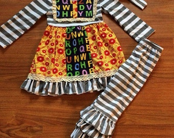 ABC back to school boutique outfit