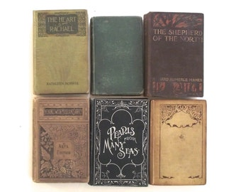 Antiquarian Book Collection, Lot of 6 Antique Books (A4)