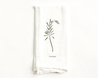 Rosemary Napkin : Flour Sack Cloth Napkin for Tabletop Place Settings, available in Singles or Sets of 4