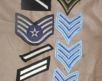lot of 8 Vintage POLICE & MILITARY  Patches