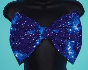 Blue Galaxy Bow Bandeau