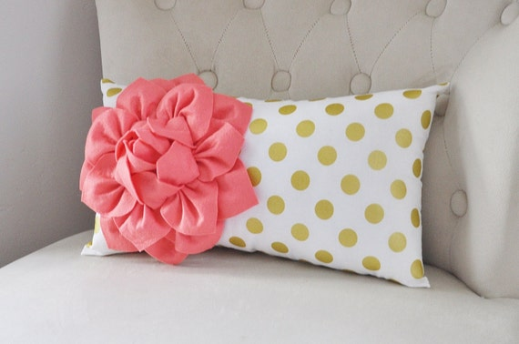 recliner pillows lumbar pillow gold polka dot pillow nursery pillow