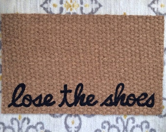 Lose the Shoes Welcome Mat! Fun doormats for fun people!