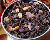 La Malinche loose chocolate hibiscus tea blend: full-sized canister