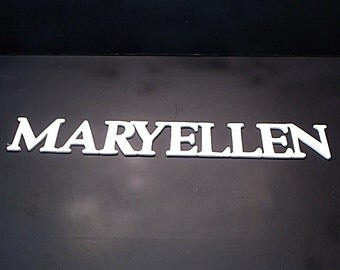 Name Sign 2 in . High x 1/8 or 1/4in. Thk 9  Letters Unfinished  Wood Style 1 Stk No. N-1-.1825 -2-9