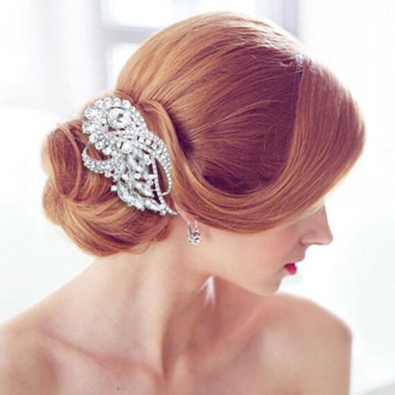 Rhinestone Bridal Jewelry,  Wedding Rhinestone Comb,  Bridal Hair Comb, Bridal Wedding  Headpiece, Art Deco Headpiece, Art Deco Bride