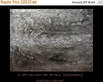 17% OFF /ONE WEEK Only/ Special Sale  Huge Modern Texture Silver Abstract Paul Juszkiewicz