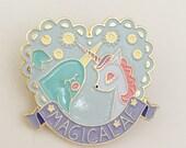 Unicorn & Narwhal Magical AF enamel pin