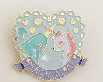 Unicorn & Narwhal Magical AF enamel pin