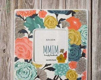 MOTHERS DAY SALE Favorite Flowers Instagram Picture Frame, Wood Frame, Unique Frames, Handmade Gifts,  Home Decor, Color, Floral, Bold, Mode