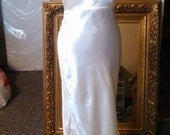 Custom Made as Ordered Bias Cut Draped Back Cowl Bodice  30s Style Wedding Gown for Jennifer