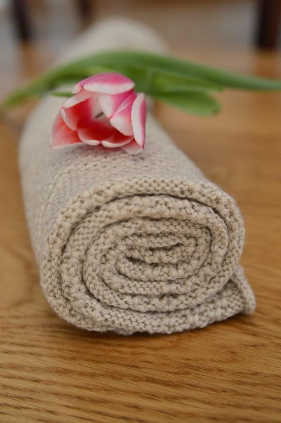Knit Blanket | Merino Wool Baby Blanket | Sandy Blanket | Baby Blanket | Merino Wool Blanket | Knit Baby Blanket