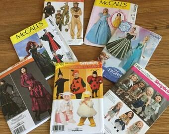 SALE! Halloween Costume Patterns Frozen Elsa Cinderella Steampunck Pumpkin Lion Halloween Children Adult Doll
