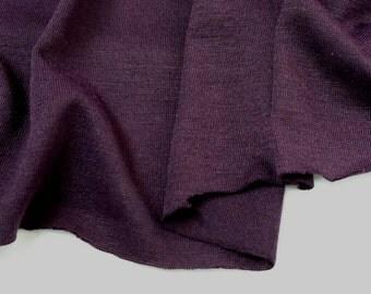 Jersey Knit - Eggplant