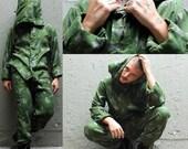 Vintage Camoflage Mesh jumpsuit Medium