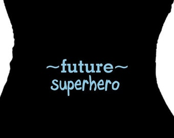 Future SUPERHERO Baby Boy Funny Mom Gift Maternity Statement T Shirt Cute Pregnancy Clothing New Mom Plus Size Pregnancy Top Pregnant Shower